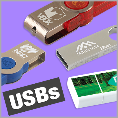 USBs personalised with print